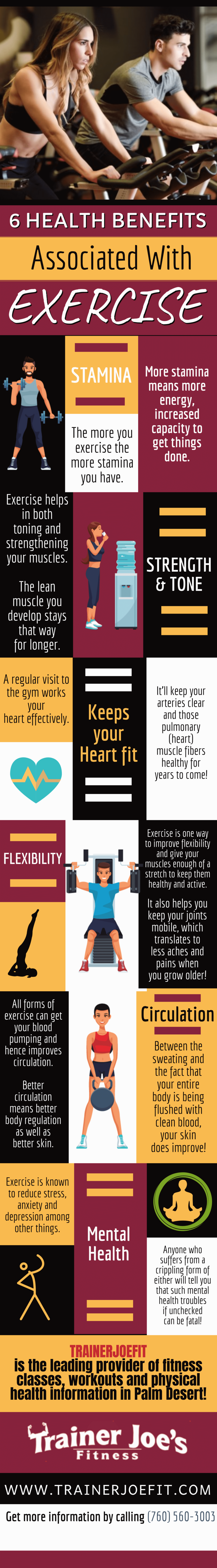 6 Health Benefits Associated with Exercise